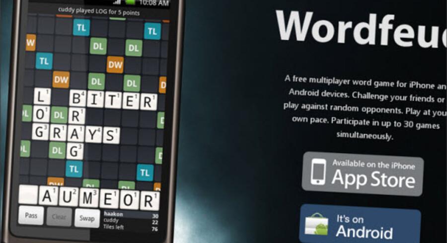 Mere end 250.000 danskere spiller Wordfeud. Nu kan de gøre det med en rigtig dansk ordbog.