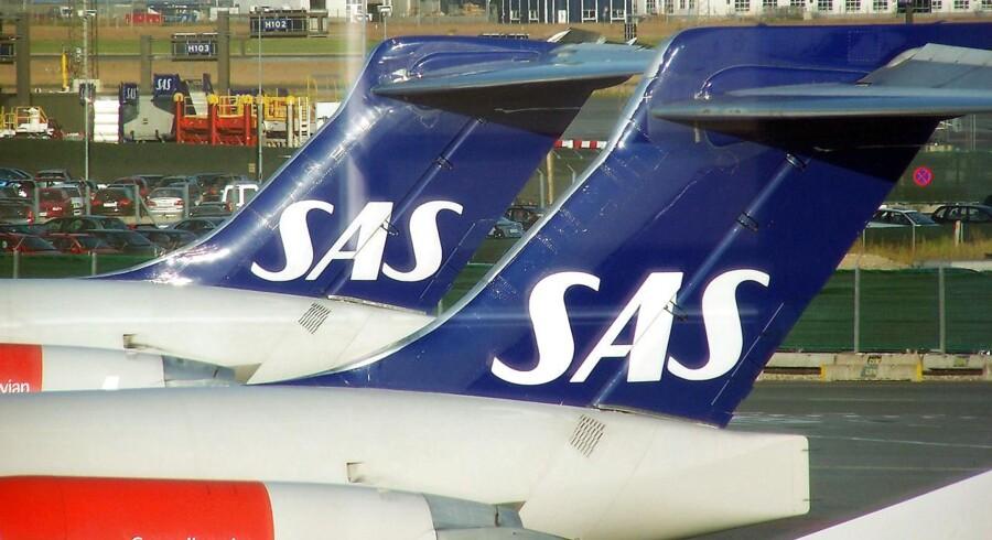 SAS-aktien er røget i vejret, efter rygter om en mulig forestående fusion med Finnair.