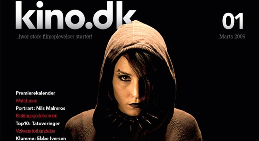 Forsiden af den nye filmmagasin med superhackeren Lisbeth Salander.