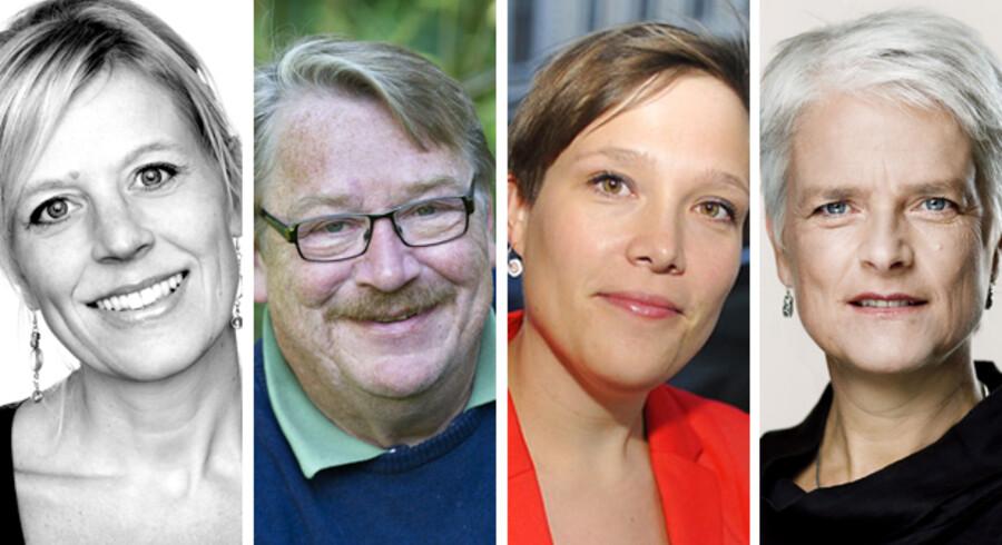 Hvis valget skulle stå mellem (fra venstre) Trine Pertou Mach, Christian Saggau, Astrid Krag og Annette Vilhelmsen, ville hele 63 procent af SF-vælgerne ikke vide, hvem de selv synes er bedst egnet til formandsposten.