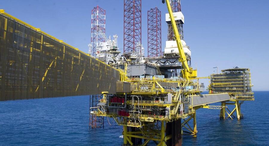 Dong har valgt at udbygge eget felt i stedet for at bruge Maersk Oils. Det har kostet fire milliarder. På billedet ses det såkaldte Halfdan-felt i Nordsøen.