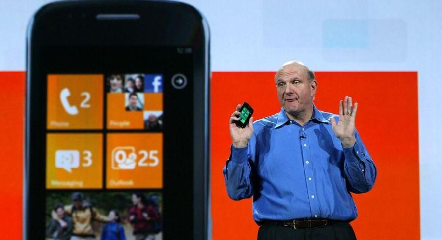 Microsoft-topchef Steve Ballmer kæmper for at få ordentligt fat på mobilområdet. Foto: Justin Sullivan, AFP/Scanpix