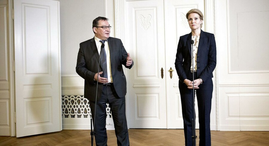 Statsminister Helle Thorning-Schmidt og Grønlands landsstyreformand Kuupik Kleist holdt et doorstep pressemøde torsdag d. 10 januar 2013 i Statsministeriet. (Foto: Keld Navntoft/Scanpix 2013)