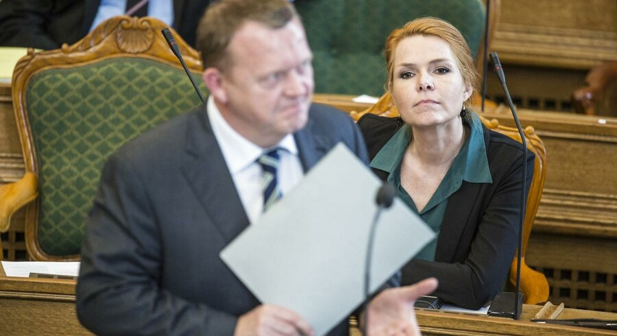 Arkivfoto. Lars Løkke Rasmussen (V) og Inger Støjberg.