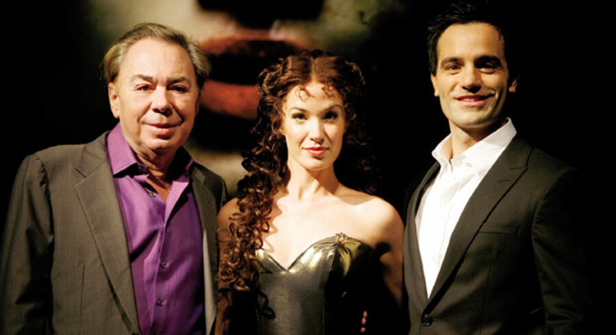 Andrew Lloyd Webber (tv.) har lavet en efterfølger til en af sine største succeser, »Phantom of the Opera«, med Ramin Karimloo som fantomet og Sierra Boggess som hans elskede Christine.
