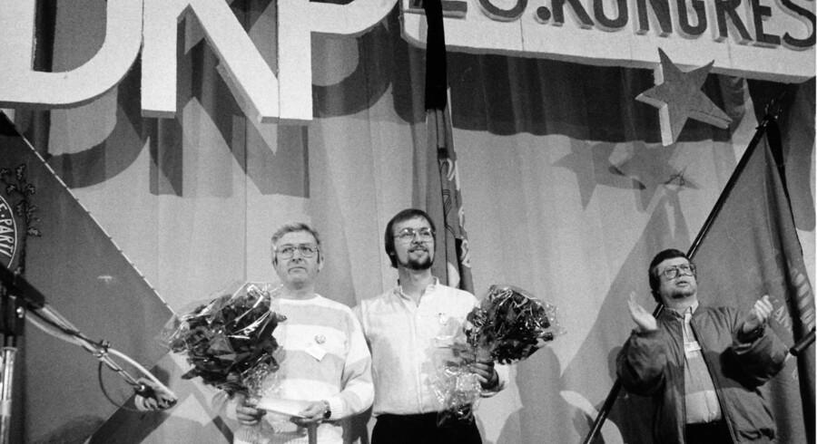 ARKIVFOTO. Daværende DKP formand Ole Sohn (midt)