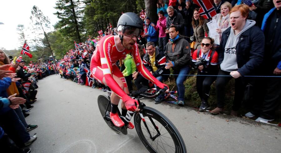 Martin Toft Madsen kører til daglig for det danske cykelhold BHS-Almeborg Bornholm. Han repræsenterede sidste år Danmark ved verdensmesterskaberne i cykling. Her blev det til en 21.-plads på enkeltstarten. Ntb Scanpix/arkiv/Reuters