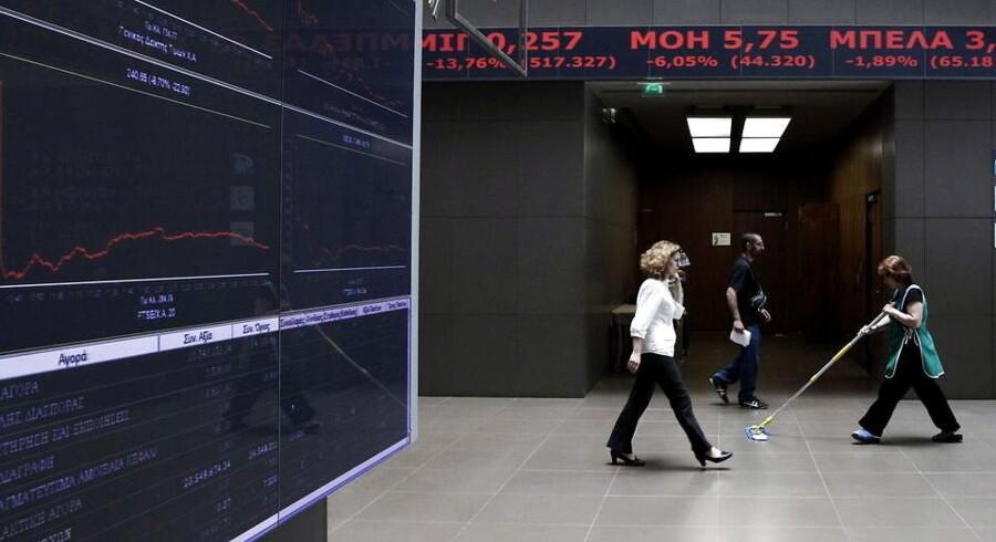 Det har været småt med lyspunkter på børsen i Athen siden krisen brød ud.