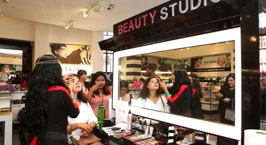 Franske Sephora, der har to butikker i Danmark og i mere end 30 lande på verdensplan, planlægger at plante seks til otte supplerende butikker her i landet inden for de næste par år. Her ses en butik i Californien i USA.