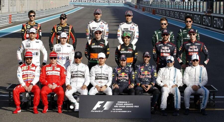 Her ses formel 1 kørererne til grandprix i Abu Dhabi.