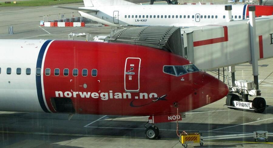 Fly fra flyselskabet Norwegian Air i London lufthavnen Gatwick lørdag den 7. november 2009