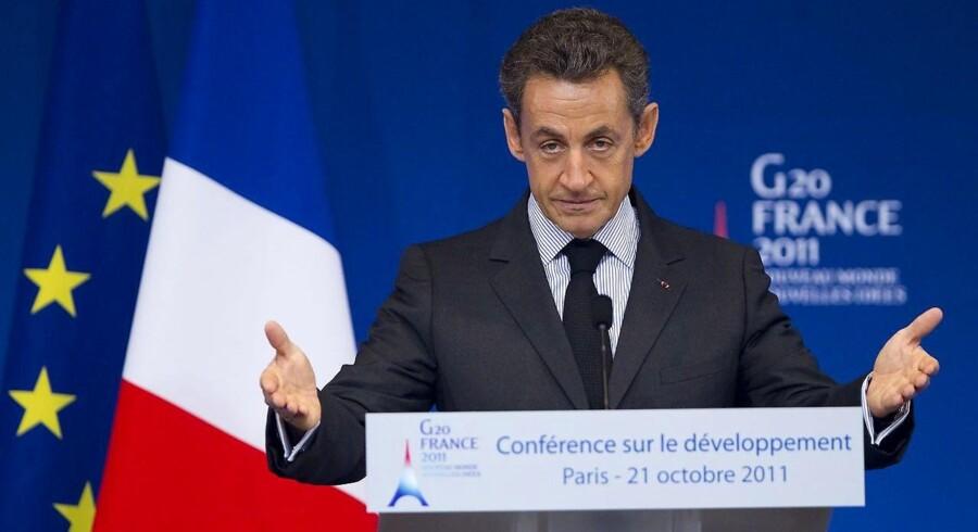 Frankrig præsident Nicolas Sarkozy