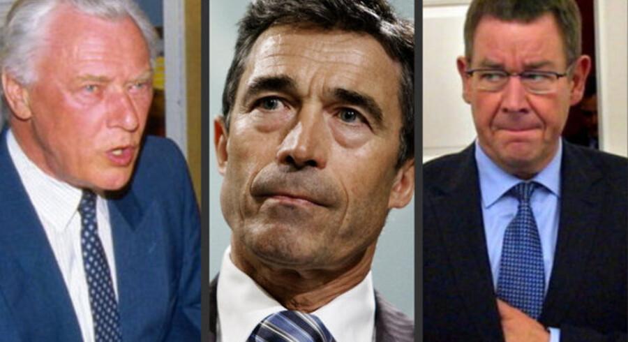Skattetrykket steg under både Poul Schlüter og Poul Nyrup Rasmussen, mens det er faldet under Anders Fogh Rasmussen. Han er også den af de tre, der har sænket skatten på den sidst tjente krone mest.