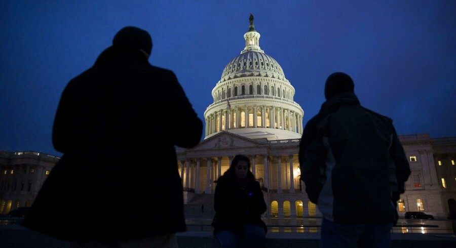 Den amerikanske parlamentsbygning, The Capitol, i Washington DC var nytårsaften centrum for de neglebidende forhandlinger om budgetforslaget.