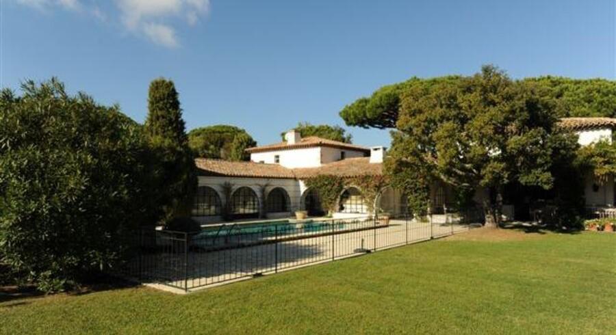 Carsten Leveaus luksusvilla i Les Parcs i Saint Tropez har syv værelser, swimmingpool og et jordtilliggende på 4-5.000 kvadratmeter.