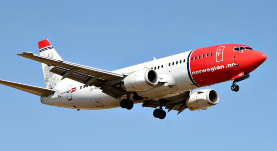 For tredje måned i træk fløj Nporwegian over en mio. passagerer. SAS er dog stadig større.