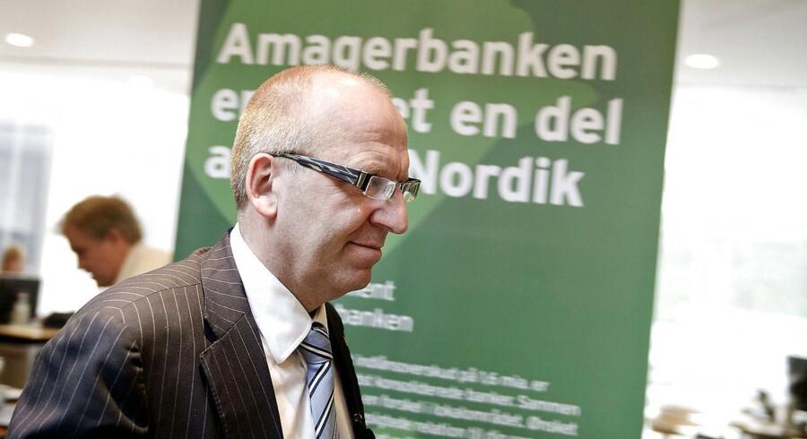 ARKIV- -Janus Petersen, adm. direktør i Banknordik ved offentliggørelsen af Banknordiks overatgelse af Amegeranken i juli.