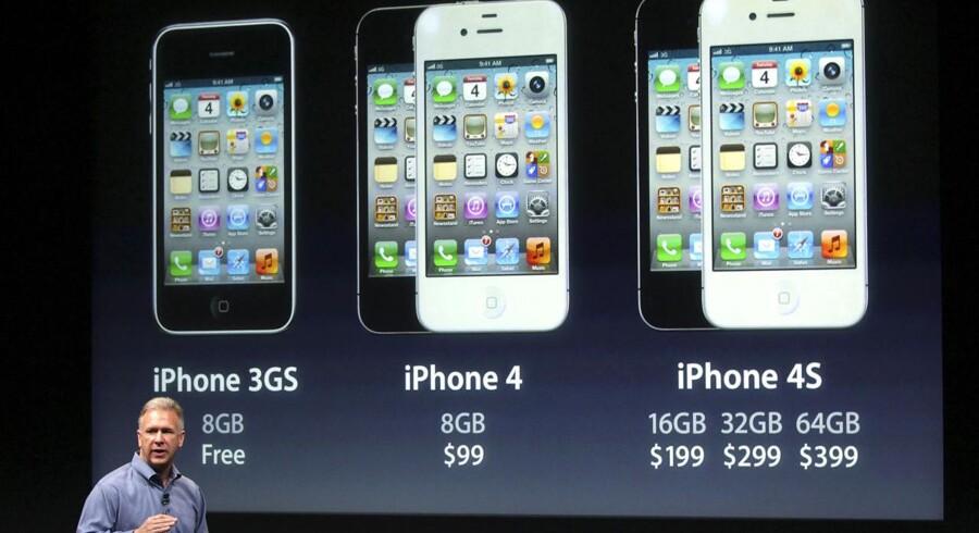 Der er nu tre iPhones til salg. Men det bliver svært at genkende en 4S i gadebilledet, for den er nøjagtig magen til sin forgænger.