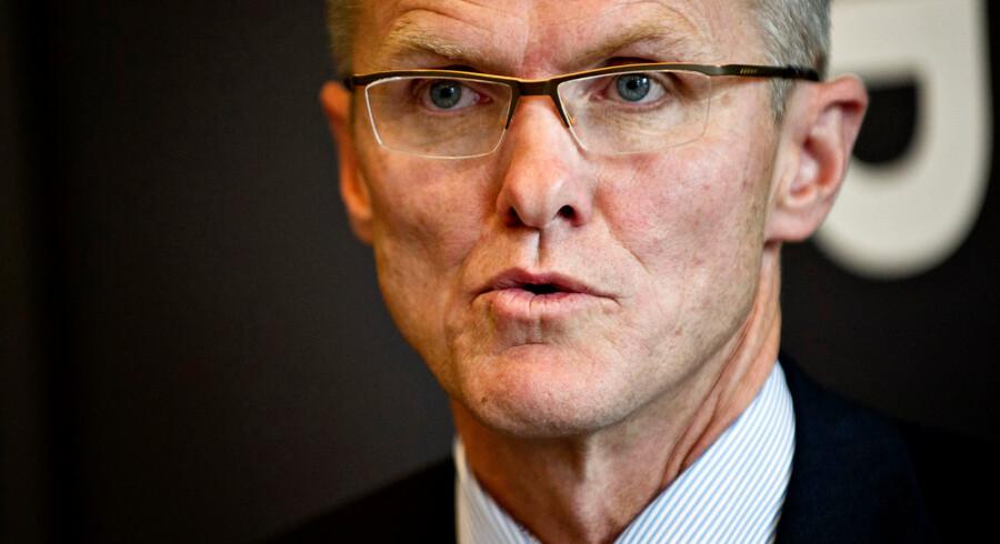 Pressemøde om det nye Spar Nord Bank, efter sammenlægning med Spar Bank. Lasse Nyby, direktør i Spar Bank Nord. (Foto: Torkil Adsersen/Scanpix 2012)