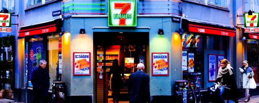 Denne 7-Eleven butik har ikke nødvendigvis noget med oprøret at gøre - men 61 danske butiksindehavere er utilfredse med den norske ejer af konceptet. Arkivfoto: Kristian Juul Petersen