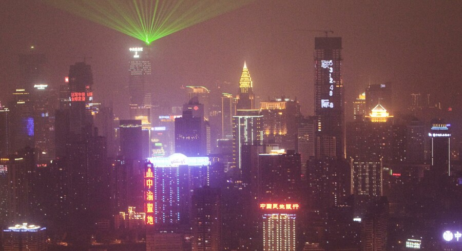 Byen Chongqing by night.