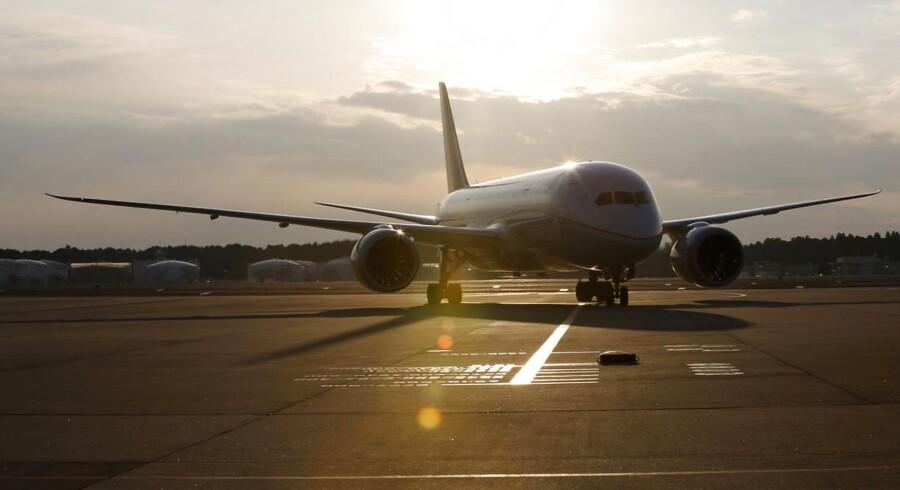 Boeings 787 Dremliner har været ramt af en lang række problemer og forsinkelser. Seneste problem er dog ikke nødvendigvis alene et Dreamliner-problem. Her set et af A United Airlines' 787ere.