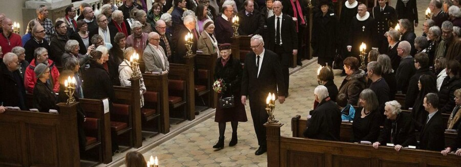 70 års dagen for mordet på digterpræsten Kaj Munk blev markeret med gudstjeneste i Vor Frue Kirke med deltagelse af blandt andre dronning Margrethe og tidligere udenrigsminister, Per Stig Møller.