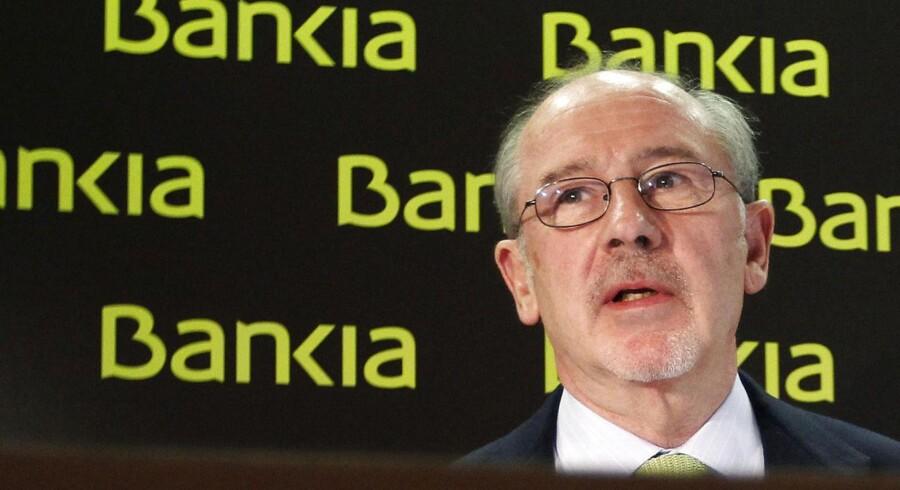 Topchef i storbanken Bankia Rodrigo Rato trådte natten til torsdag tilbage, samtidig med at regeringskilder bekræftede, at en bankpakke er under opsejling. Arkivfoto.