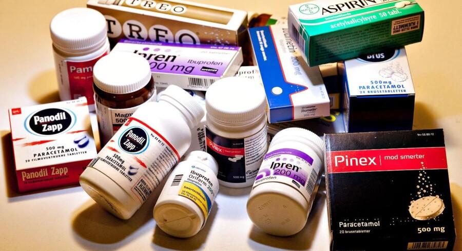 Hovedpinepiller. Ipren, Pinex, Aspirin, Panodil, Ibuprofen, Ibumetin og Paracetamol.