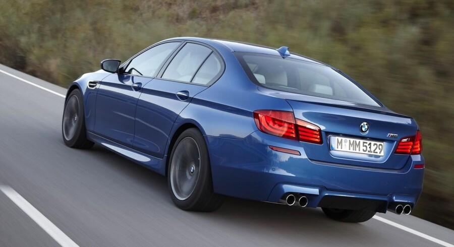 Det er ikke mange eksemplarer af drømmebilen – den nye BMW M5, der kommer ud at køre i Danmark - slet ikke som firmabil.