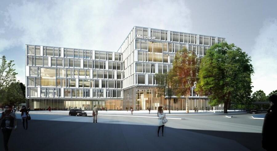 Denne erhvervs- og boligejendom på Kanalvej i Lyngby skal stå færdig i 2016. Det 1,2 mia. kr. dyre byggeri er et eksempel på, at Danica Pension sætter penge i ejendomsmarkedet – og samtidig udvider det.