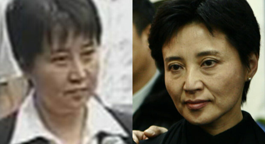 Gu Kailai til højre. Er det også Gu Kailai i retten til venstre?