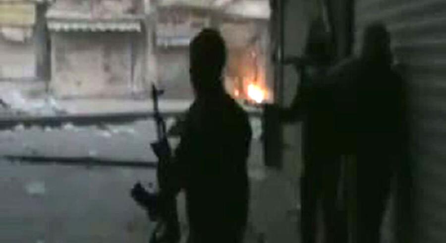 Se videoen fra Homs herunder.