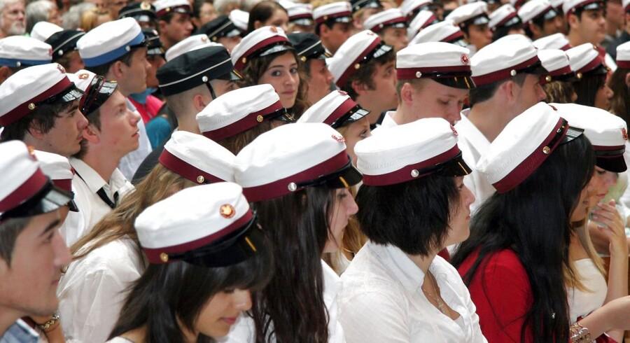 ARKIVFOTO 2008 af studenter.