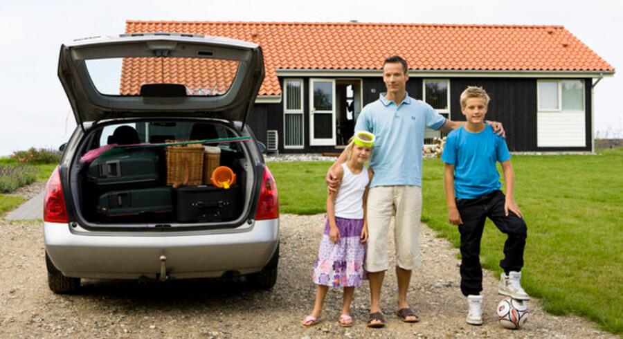 Billeder som dette ser ud til at blive taget væsentligt færre gange i år - både danskere og tyskere booker i faldende omfang danske sommerhuse.