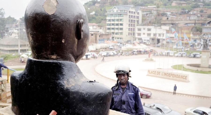 En buste af Laurent-Désiré Kabila, den tidligere præsident i Den Demokratiske Republik Congo, som blev dræbt af sine egne livvagter.