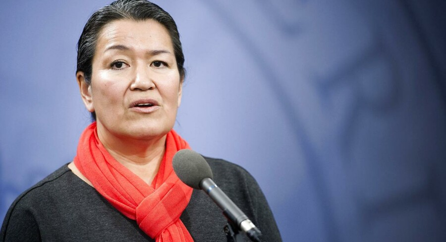Landsstyreformand Aleqa Hammond under en tidligere tale i Statsministeriet.