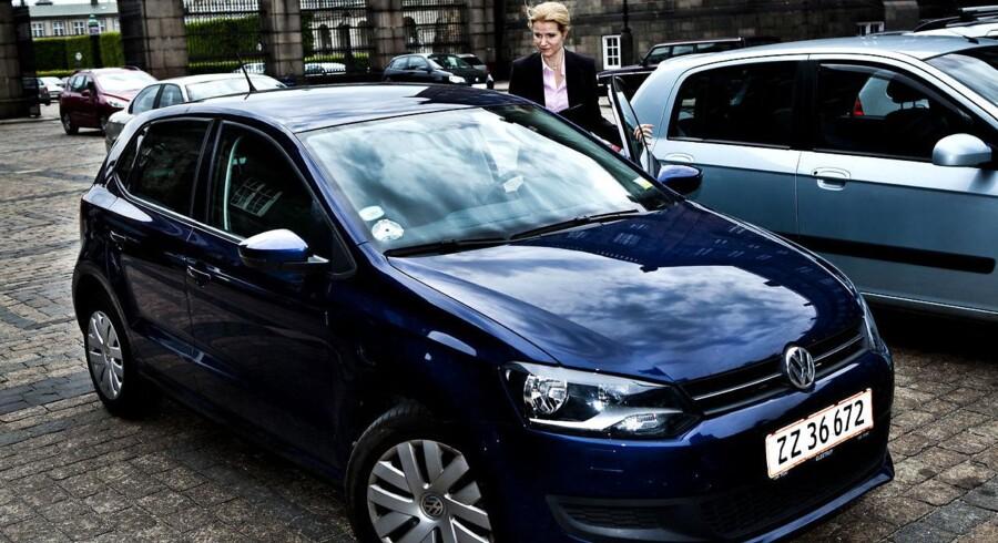 Helle Thorning-Schmidts VW Polo, der er leaset i Tyskland.