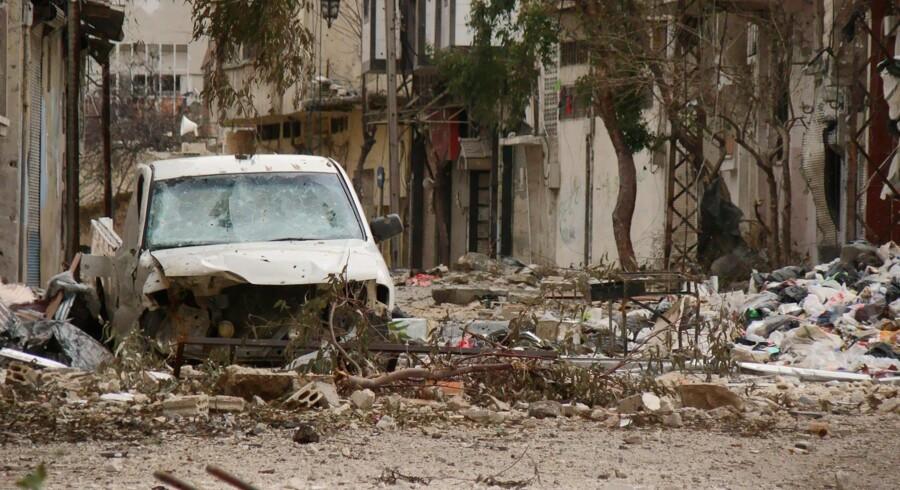 Den oprørske by Homs er hårdt ramt af den syriske hærs offensiv – bl.a. med nyindkøbte russiske våben.