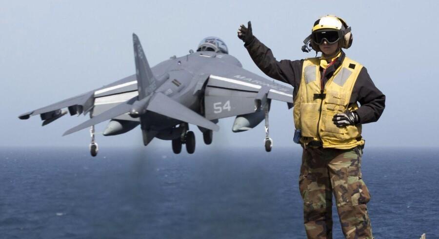"""Amerikanske styrker er """"klar til at gå"""", hvis et luftangreb mod det syriske regime bliver aktuelt. (Foto: Corbin Shea/Scanpix 2013)"""