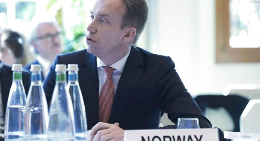 Den norske udenrigsminister, Børge Brende.
