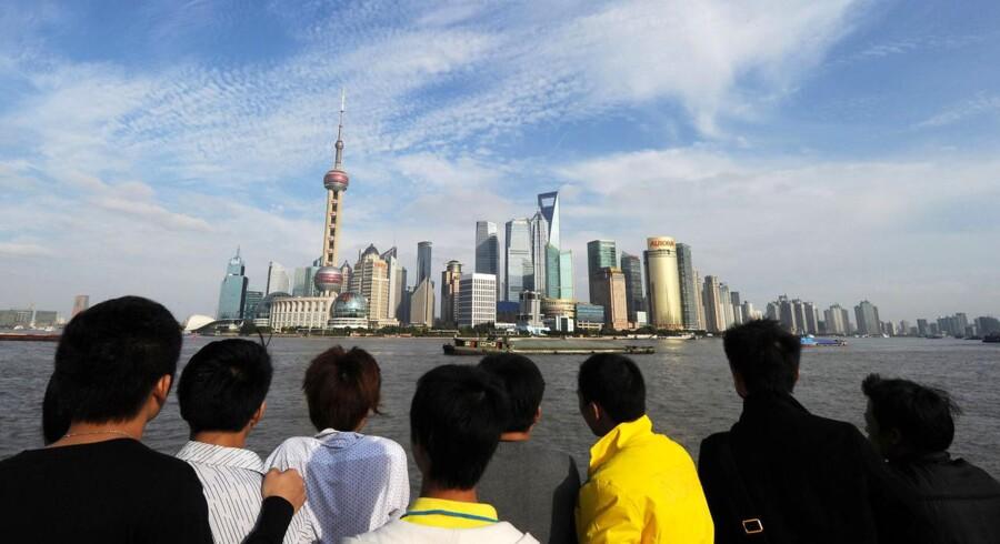 Promenaden The Bund ved Huangpu-floden.AFP PHOTO / Mark RALSTON.