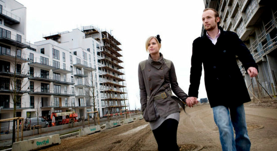 Christian G. Koch og Christine Bentzen skrev under på en købsaftale i 2006 - siden er priserne på ejerboligmarkedet i København raslet ned.