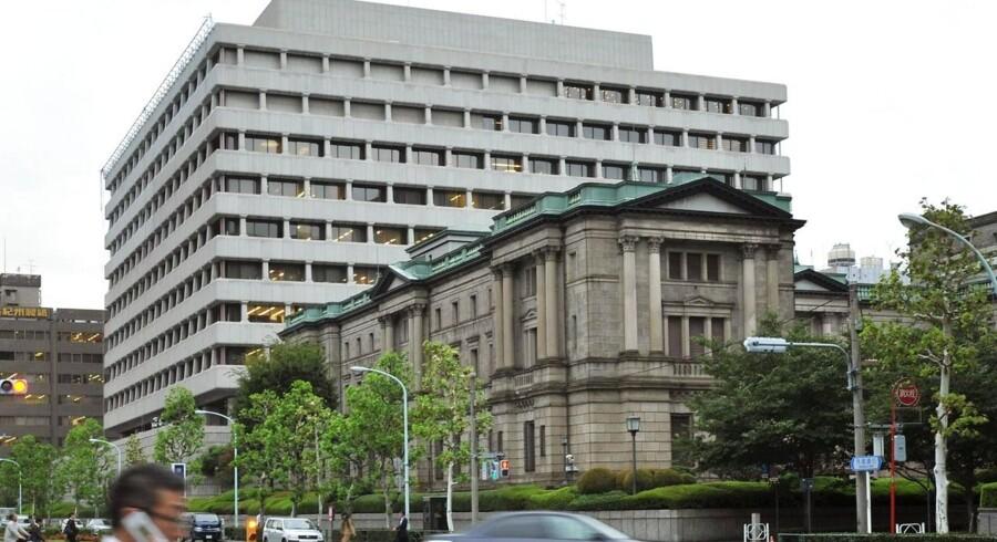 Den japanske centralbank - Bank of Japans hovedkvarter i Tokyo.