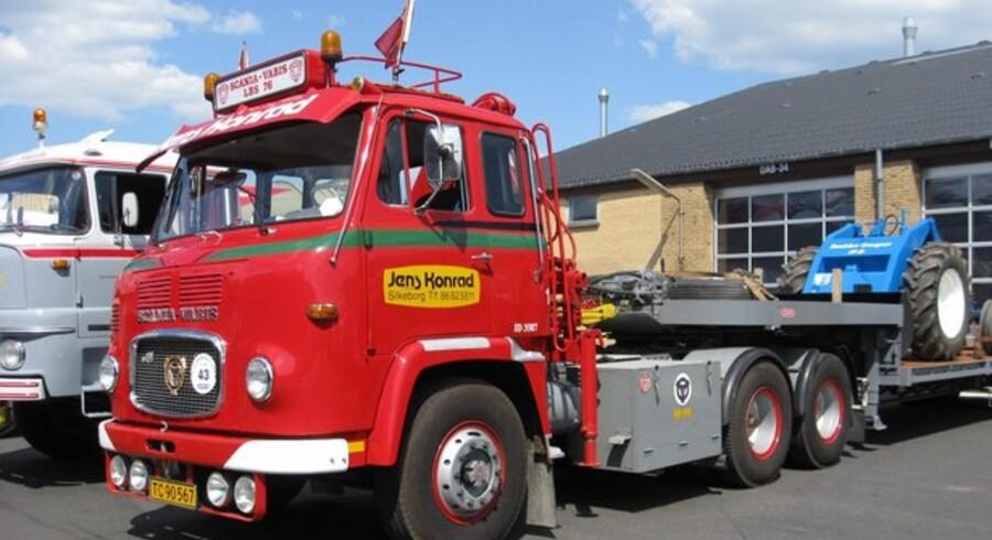 Vognmandsfirmaet Jens Conrads gamle snude-Scania.Foto: Jens Conrad A/S