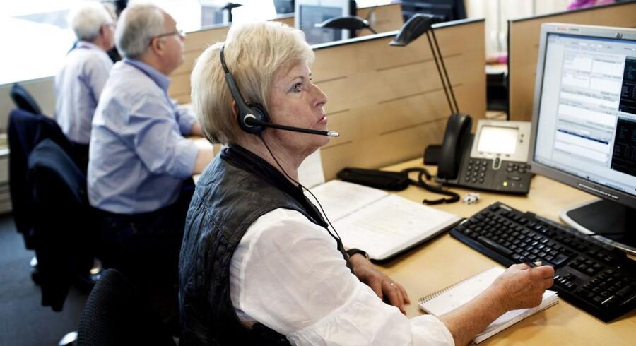 Seniormødebooker Ingrid Breitung på 70 år, der sidder i det team af seniorer, som Codan har ansat til at ringe og booke møder med selskabets assurandører.
