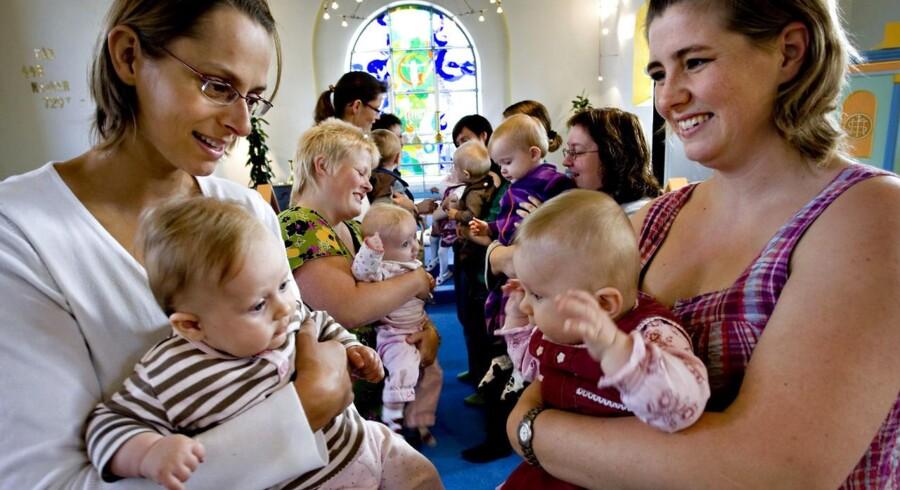 Arkivfoto: Babysalmesang i Hogager Kirke.