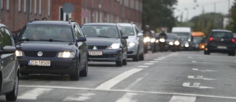 Trafikkøer i København her til morgen.