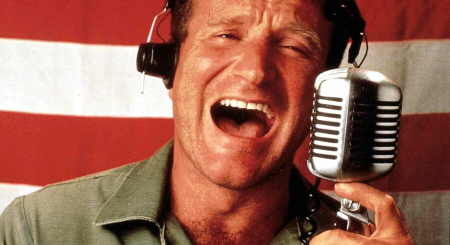 """Med filmen """"Good Morning Vietnam"""" (1987) begyndte folk at få øjnene op for det spirende skuespiltalent som Robin Williams besad."""