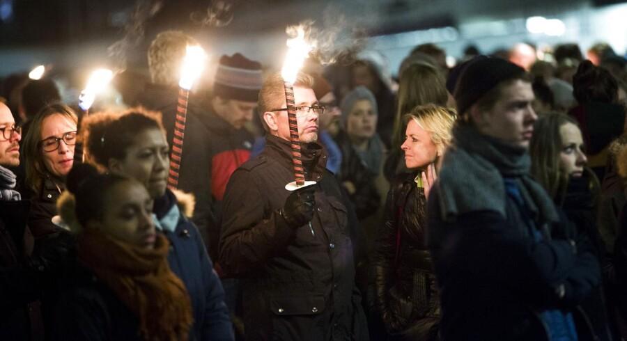 Overborgmester Frank Jensen deltog i fakkeltoget mod vold i nattelivet.